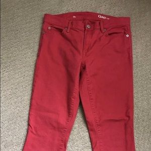 Gap 1969 Pink Cropped Denim Stretch Pants